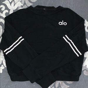 ALO crew neck sweater with open back